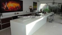 glass white shiny man made stone countertops