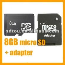 8GB Micro SD TF Memory Card + SD Adapter 8G 8 GB