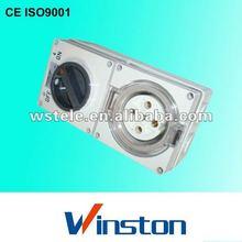56CV Weatherproof combined switch socket