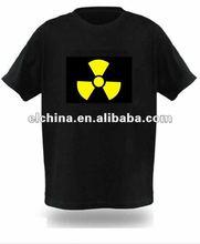 2012 new design O-neck 100% cotton sound sensibility el t-shirt