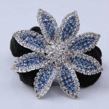 2012 new style Fashion Elastic Big Flower Hair Bands,Fashion Hair Wear