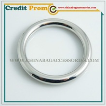 Shinny Silver Round Zinc alloy ring for handbag, leather and fabric