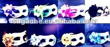 Handcraft all black Venetian style Halloween mask . Popular Purple & Silver Halloween Venetian handmade Mask A