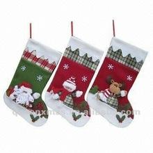 Christmas Family Santa Snowman Reindeer Felt Christmas Stocking