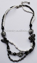 Black & White beaded necklace for DIY final product