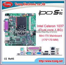 Intel Celeron 1037 Dual core 1.8G LVDS VGA Mini-ITX Mainboard/ motherboard