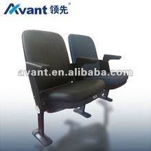 Gravity folding upholstered seating stadium chair arena seating fixed seat