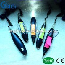led torch memo ball pen