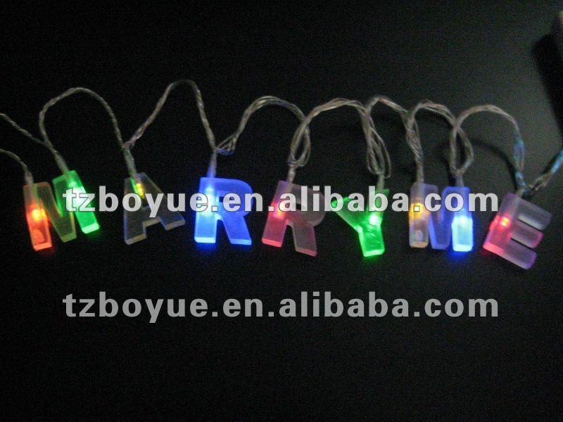 LED battery letter string light, Merry Christmas Light, multi color LED, View battery operated ...