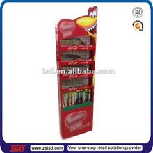 TSD-M174 custom store cheapest floor standing metal wire chocolate display rack/biscuit display stand/cookies display shelf