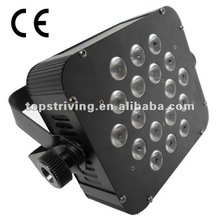 Newly product of color strobe effect 18*White led flat par light