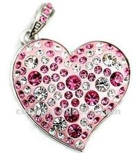 original toshiba chipset heart shape jewelry usb flash