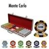 Monte Carlo Poker Chip Set with Black Aluminum Case - 500 Piece