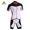 pro monton hary rojo ciclismo de prendas de vestir de blanco con negro pantalones cortos