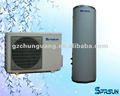 Minispalte-Haushalts-Wärmepumpen mit rundem gedrücktem Wasser-Behälter