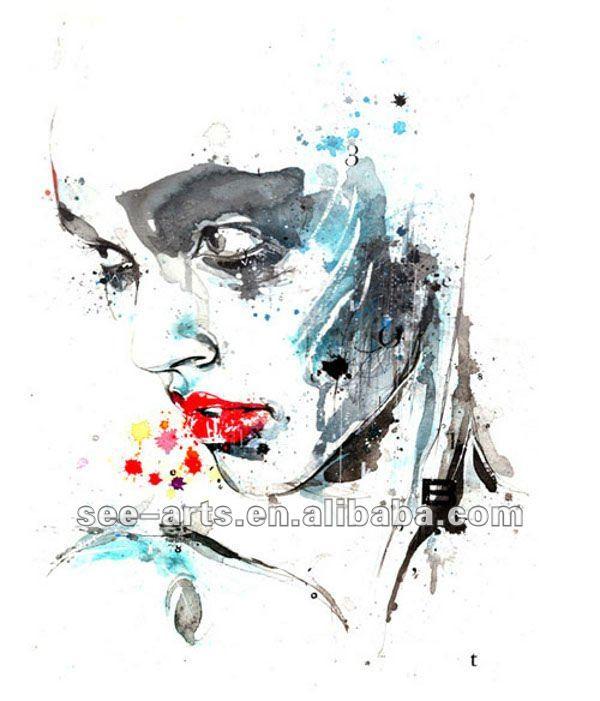 Aquarela Mulheres Nuas Pintura Em Tela Arte