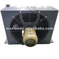 Placa de areia bomba refrigerador( circuito hidráulico), alumínio trocadordecalor, montagem com ventilador
