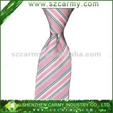 100% silk ,Classic striped necktie,Hot pink striped necktie
