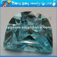 half-moon aquamarine loose gem stone