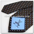 Dongguan garçom pontos logotipo bordado grande baixa final malha tecidos de malha, gravata de comércio exterior