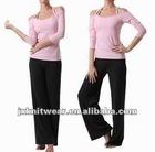 women's fashion casual cotton fleece sport yoga track suit