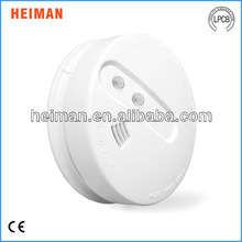 9V Battery Powered Independent Smoke and Heat Alarm Detector