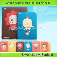 Tablet case ultra thin cartoon silicone case for ipad mini 2 3 4, for ipad case mini air ,for ipad mini case cartoon kids