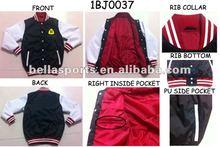2012 Customized Fashion 100% Polyester coach baseball jacket