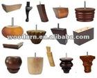 various designs of wood chair legs
