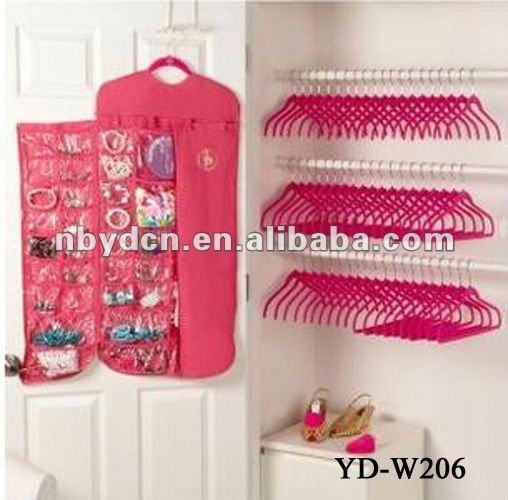 Organizador De Baño De Tela:bolsillos que cuelgan la joyería organizador-Empaquetado y muestra de