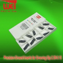 Precision-Ground Inserts for Grooving Gip 2.39-0.15