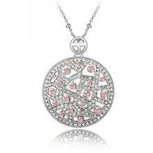 (n052466)Colorful Wholesale Ellipse Shape Locket Pendant Big Charm Necklace