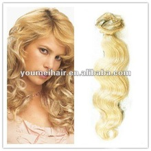 2013 fashion 26 inch human hair remy clip in hair extensions