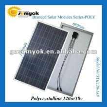 high efficiency poly solar cell mudule 120w 18V