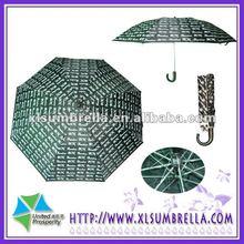 Letter black and white rain umbrella fashion 2012