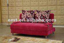 2012 Exquisite Design Pink Color Sofa Bed(EMT-RK52)
