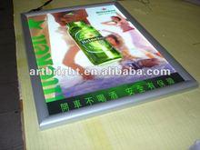 Advertising edge lit LED slim light box (with aluminum snap frame)