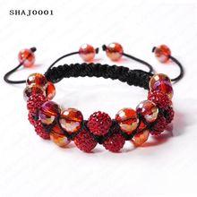 Shamballa Bracelets Double -Deck Mix Color Crystal Balls SHAJmix1