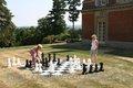 Géant jeu d'échecs, Jeu échecs en plein air, Jardin jeu d'échecs