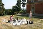 giant chess set, outdoor chess set, garden chess set