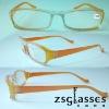 2012Cheap Promotion fashion reading glasses,classic designer slim reading glasses,turning reader Factory Custom logo