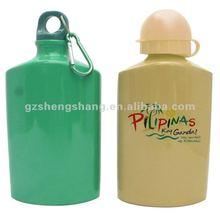 Customized logo carabiner decorated Aluminum water bottles/sport bottles