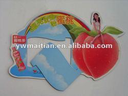 Custom paper fridge magnet,magnetic photo frame,fruits
