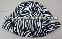 100% wool felt hat bodies of zebra stripes pattern