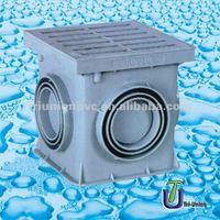 UPVC catch basin square DIN/catch basin square/PVC catch basin square
