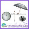 Pongee wooden handle outdoor sun umbrella sale