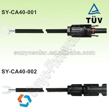 4.0MM2 30A Current Solar mc4 cable with MC4 female Male connectors