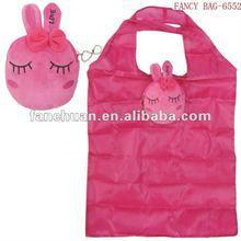 Rabbit polyester folding shopping bag