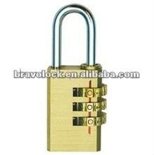 4-dial brass digital padlock combination