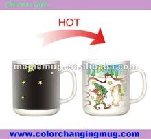 Newest Christmas creation promotional changing bone china mug